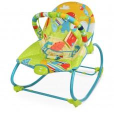 Детский Шезлонг Качалка Mastela с вибрацией, музыка, 2 положения, съемная дуга с игрушками, ремни арт. 6920