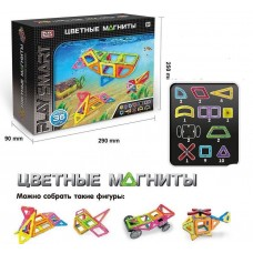 Детский развивающий Магнитный конструктор из 36 ярких пластиковых элементов для детей от 3 лет - Play Smart