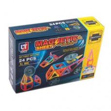 Детский пластиковый магнитный конструктор Magnetic sheet с инструкцией, 24 детали арт. 5004