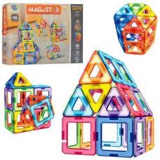 Детский развивающий Магнитный конструктор из 46 пластиковых элементов для детей от 3 лет - Magnetic sheet