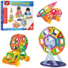 Детский пластиковый магнитный конструктор Mini Magical Magnet с инструкцией, 86 деталей арт. 086