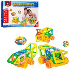 Детский цветной пластиковый магнитный конструктор Mini Magical Magnet с инструкцией, 32 детали арт. М032
