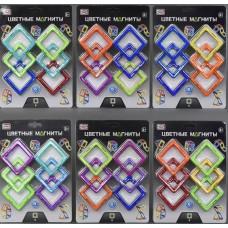 Дополнительный набор элементов для Магнитного конструктора из 6 ярких квадратов для детей от 3 лет - Play Smart