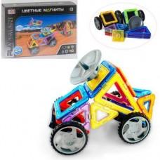 Детский развивающий Магнитный конструктор из 24 пластиковых элементов для детей от 3 лет - Play Smart