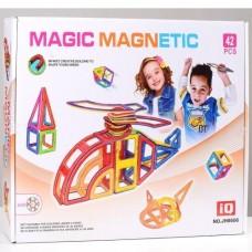 Детский развивающий Магнитный конструктор из 42 пластиковых элементов для детей от 3 лет - Magic Magnetic