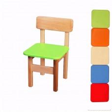 Детский Деревянный Стульчик Финекс, сидение 29х29 см, высота сидения 31 см, вес 2.5 кг, 6 цветов арт. 011-016*