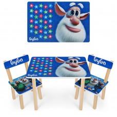 Набор детской мебели Буба: столик для рисования и творческих занятий 60х40х43см и 2 стульчика 30х30х51см