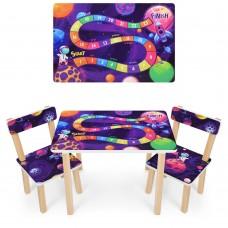 Набор детской мебели Космос: столик для рисования и творческих занятий 60х40х43см и 2 стульчика 30х30х51см