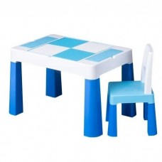 Комплект детской мебели многофункциональный Стол-песочница 72х47х49см со съемной крышкой и стул, голубой