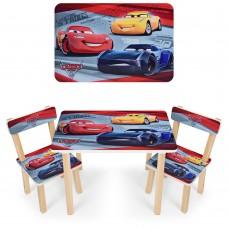 Комплект детской мебели Тачки для рисования и творческих занятий: столик 60х40х43см и 2 стульчика 30х30х51см*