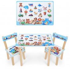Набор детской мебели Игрушки: столик для рисования и творческих занятий 60х40х43см и 2 стульчика 30х30х51см