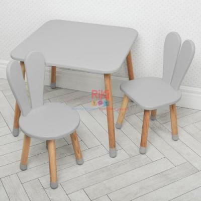 *Комплект детской мебели (стол + 2 стула) арт. 04-025GREY+1