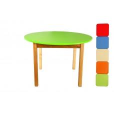Детский Деревянный Столик для творчества Финекс с круглой столешницей D70 см, высота стола 52 см, арт.031-036*