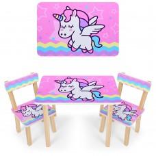 Комплект детской мебели Pony для рисования и творческих занятий: столик 60х40х43см и 2 стульчика 30х30х51см*