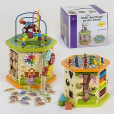 Развивающая деревянная игрушка (бизиборд, пальчиковый лабиринт, рыбалка) арт. 39186