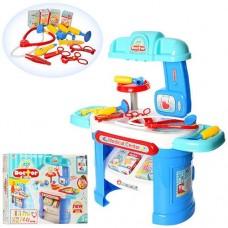 Детский игровой набор доктора на стойке, 25 деталей, размер стойки 66-30-68 см арт. 008-913