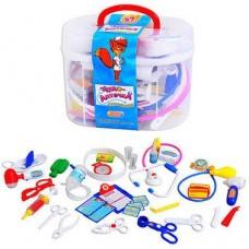 Детский Развивающий Игровой Набор Доктора Волшебная аптечка, 37 предметов в чемодане: лекарства, шприц, очки