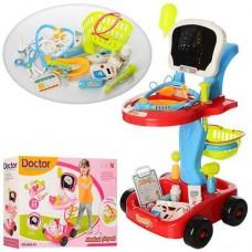 Детский Развивающий Игровой Набор Доктора с тележкой и мед. инструментами, свет и звук 41х58х32 см арт. 660-44