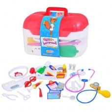 Детский Развивающий Игровой Набор Доктора Волшебная аптечка: 35 предметов в чемодане с ручкой, с чепчиком