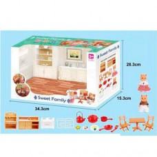 "Набор мебели ""кухня, спальня, ванная"" с фигурками Sweet family Sylva Families арт. 1603-04-06"