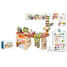 Детский игровой набор Магазин-Супермаркет с кассой, продуктами и прилавком, 52 предм., 93х50х79 см арт. 668-69