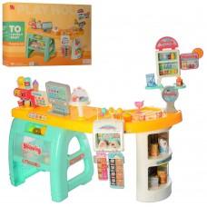 Детский Игровой Набор Магазин-Супермаркет из 60 предметов: прилавок, продукты, касса, со звуком 99х73х50см