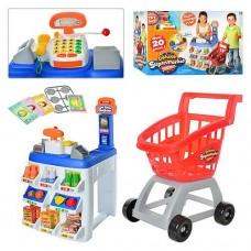 Детский игровой набор Супермаркет с тележкой  Deluxe Keenway с и звуковыми эффектами арт. 31621