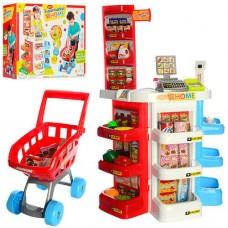 """Детский игровой набор """"Магазин с тележкой"""" с аксессуарами со световым и звуковым эффектом  арт. 668-20"""