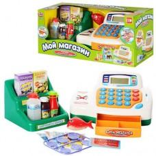 """Детский кассовый аппарат """"Мой магазин"""" с аксессуарами (калькулятор, деньги, продукты, карта) арт. 7254"""