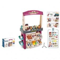 Детский игровой набор Магазин-Супермаркет с кассой, продуктами и прилавком, 55 предм., 56х34х86 см арт. 668-74