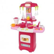 Детская кухня с аксессуарами и циркуляцией воды со звук и световыми эффектами, 24 аксессуара арт. 889-53 43320-06 lvt-889-53pink