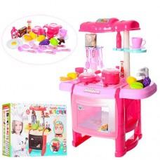 Детская кухня с аксессуарами и со звуковыми и свет эффектами (2 цвета), размер 48-24-63 смарт. 1800-10 43840-06 lvt-1800-10
