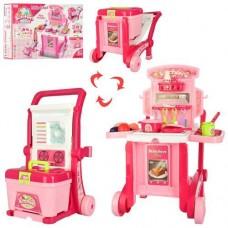 Детский Игровой Набор Кухня-трансформер в чемоданчике с посудой и аксессуарами, 59.5х47х42.5 см, арт. 008-927 43602-06 lvt-008-927