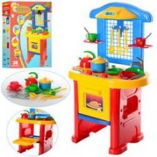 Детская игрушечная кухня от ТМ  ТехноК с набором посуды, размер 58 х 48 х 15,5 см арт. 2124 43243-06 lvt-2124