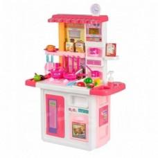 Детская Игрушечная Кухня с холодильником, со световыми и звуковыми эффектами, с циркуляцией воды, розовая