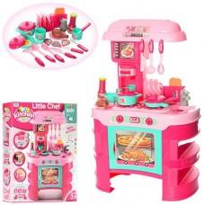 Детский Игровой Набор Кухня Little chef с аксессуарами, свет, звуковые эффекты, 69х45.5х26.5 см, арт. 008-908 43924-06 lvt-008-908