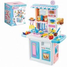 Детская Игрушечная Кухня с духовкой, холодильником, световыми и звуковыми эффектами, циркуляцией воды, голубая