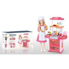 Детская кухня с циркуляцией воды и аксессуарами  со свет и звук эффектами, размер 54-32-86 см арт. WD-P38 48876-06 lvt-WD-P38