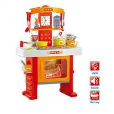 Детский Игровой Набор Кухня с духовкой и аксессуарами, 19 предметов, звуковые и световые эффекты арт. 661-91 43996-06 lvt-661-91
