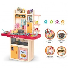 Детская Игрушечная Кухня с парогенератором, циркуляцией воды, звуковыми и световыми эффектами, Kitchen Chef