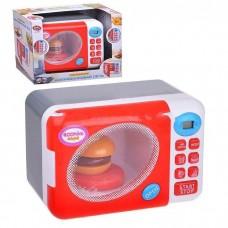 Детская микроволновая печь со световыми и звуковыми эффектами, размер игрушки 15-24-17 см арт. 6015 43647-06 lvt-6015