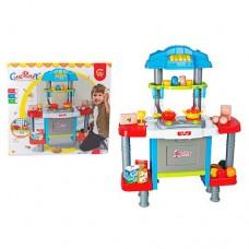 Детский игровой набор кухня Gourmet со световыми и звуковыми эффектами, 26 предметов арт. 77021 43757-06 lvt-77021