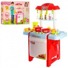 Детская кухня с аксессуарами и со звук и световыми эффектами (2 цвета), размер 67*49*30 см арт. 889-57-58 43729-06 lvt-889-57-58