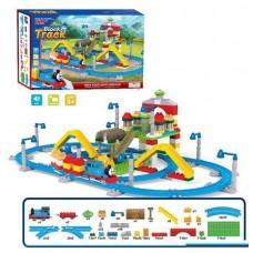 Железная дорога-конструктор для детей с Паровозиком Томасом и вагонами, со звуковыми эффектами, 203 детали