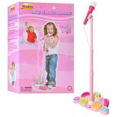 Детская регулируемая музыкальная стойка с микрофоном от ТМ Win Fun, высота стойки до 108 см арт. 2044