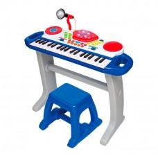 Детский синтезатор (пианино) со стульчиком со световыми эффектами от ТМ WinFun, 37 клавиш арт. 2068 NL