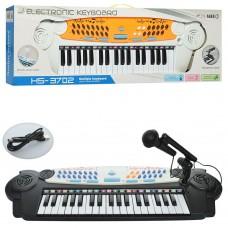 Детское пианино - синтезатор с микрофоном и функцией записи, 37 клавиш, 8 тонов, 8 ритмов арт. 3702