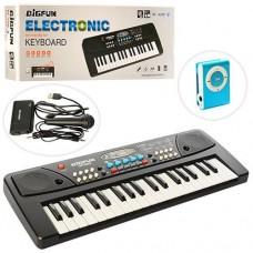 Детский Игровой Развивающий Музыкальный Инструмент Пианино-синтезатор с микрофоном, синим плеером арт. 430