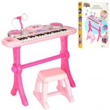Детский синтезатор (пианино) со стульчиком со световыми эффектами от ТМ WinFun, 37 клавиш арт. 2068 G - NL
