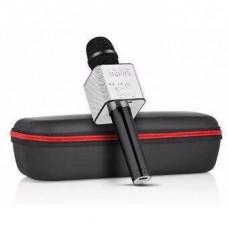 Детский Игровой Беспроводной Микрофон Bluetooth 4.0 с колонкой для Караоке на улице и дома, черный арт. Q7